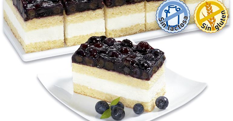 tarta de arándanos sin lactosa