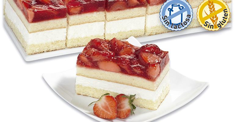 tarta de fresa sin lactosa