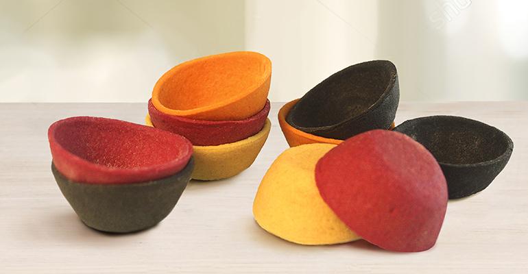Mini tartaletas de diferentes colores para rellenar