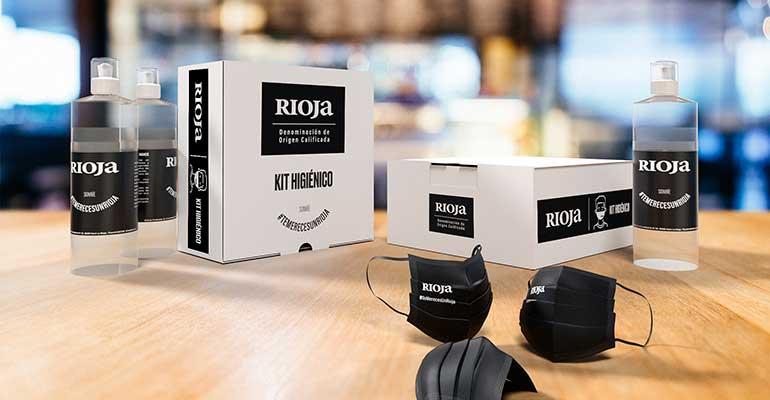 Rioja entrega 10.000 kits para una hostelería segura