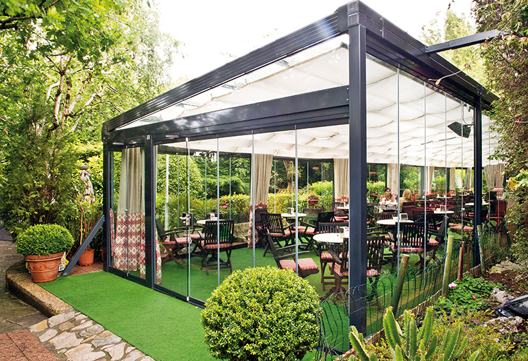 Acondicionamiento del restaurante jolastoky getxo - Ideas para cerrar una terraza ...