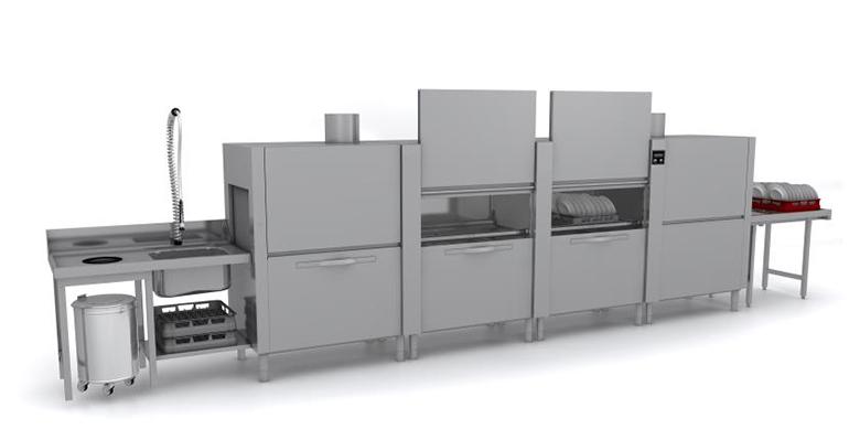 tren de lavado para vajilla cocinas industriales