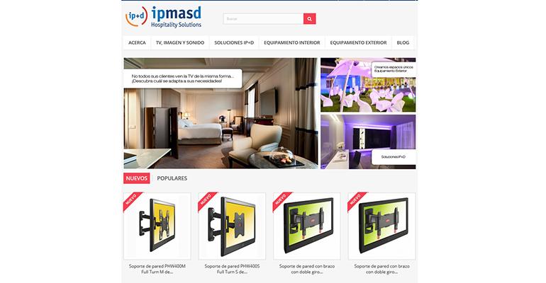 WEB IP+D soluciones tecnológicas y equipamiento para hostelería
