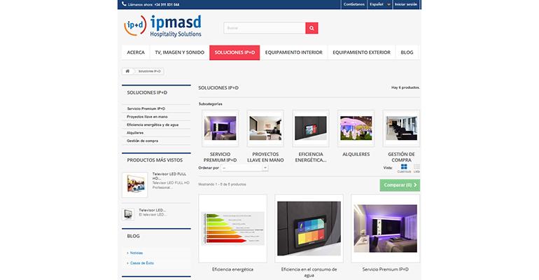 Web ip+d soluciones hoteles