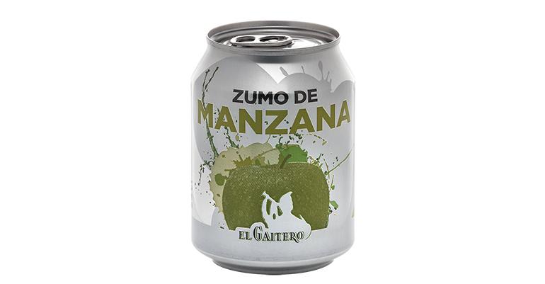 zumo de manzana en lata